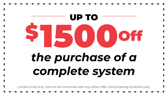 $1500 off purchase of a complete hvac system