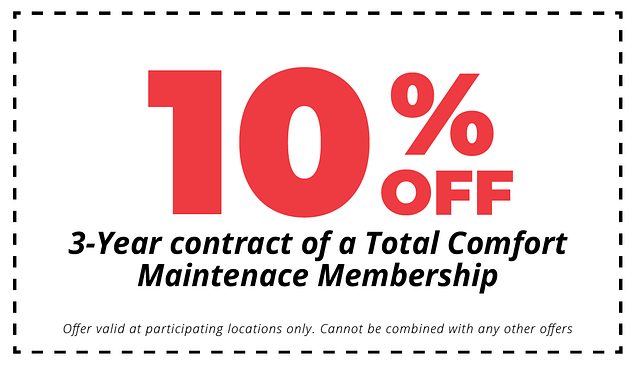 10% off 3 year total comfort maintenance membership coupon