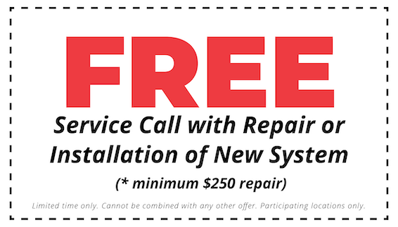 free hvac service call with repair or installation of new system coupon