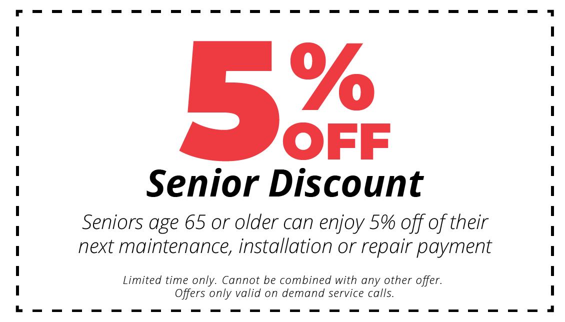 5% off coupon senior discount
